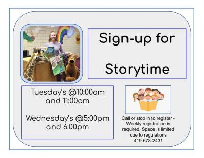 Storytime sign up